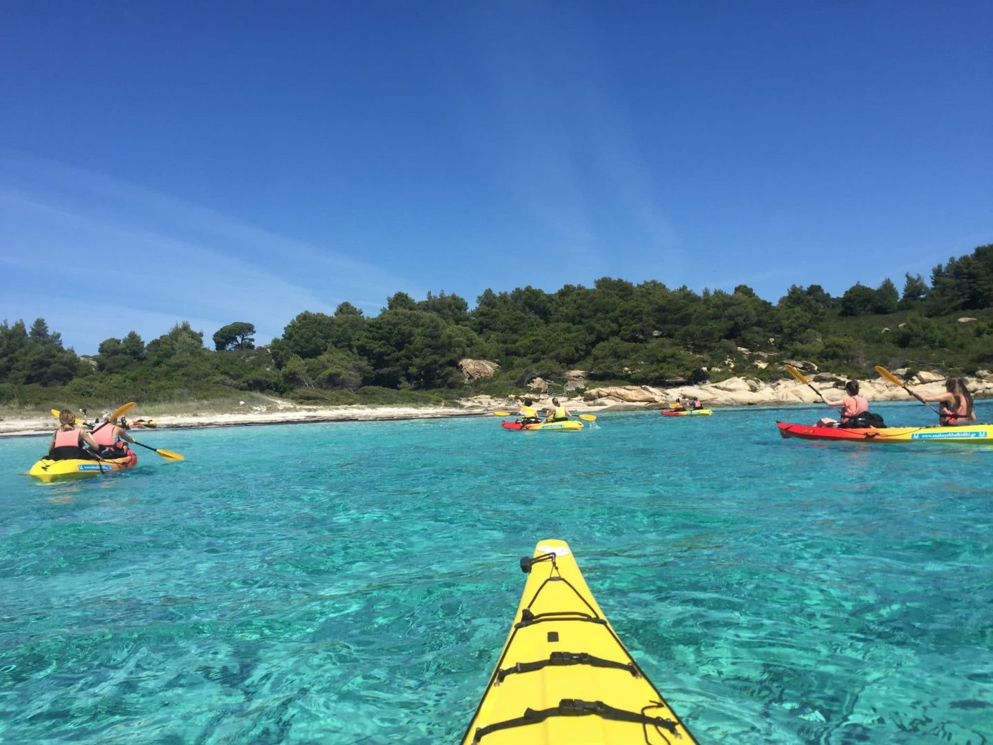 Swimming, snorkelling & picnic with the half a day Sea Kayak trip – Diaporos island